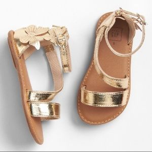 Gap gold butterfly shoes